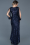 Front Short Back Long Navy Blue Mermaid Prom Dress ABO015