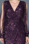 Front Short Back Long Plum Mermaid Prom Dress ABO015