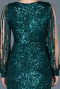Front Short Back Long Green Mermaid Prom Dress ABO015
