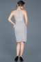Short Grey Invitation Dress ABK278