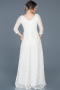 Long Ecru Evening Dress ABU335