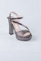 Smoked Color Crystal Evening Shoes MJK6237