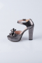 Smoked Color Crystal Evening Shoes MJK6601