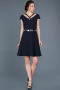 Short Navy Blue Prom Gown ABK427