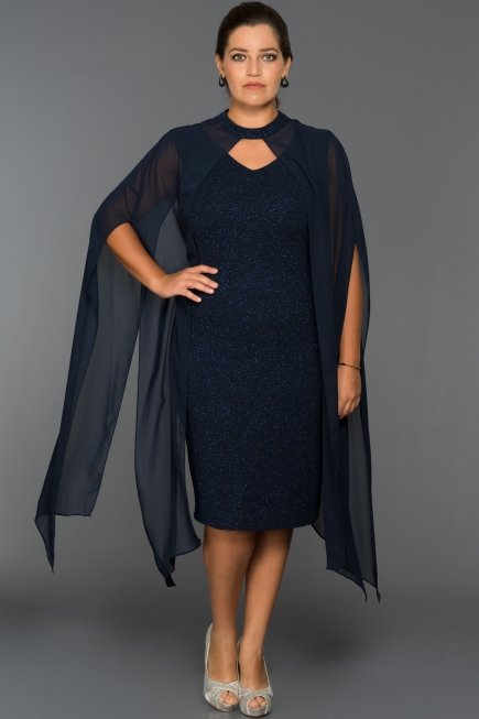 Short Navy Blue Plus Size Dress Abk013 Abiyefon