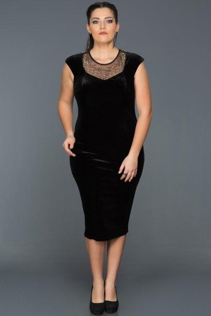 8e26944c344 Short Black Velvet Evening Dress F7362