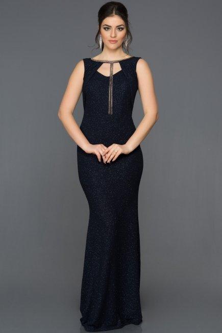 Navy Blue Mermaid Dress