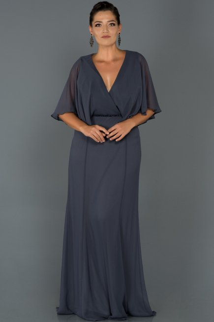 c43c079f20b Long Indigo Oversized Evening Dress ABU001