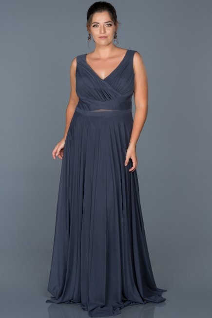 e13077eec09 Long Indigo Oversized Evening Dress ABU004