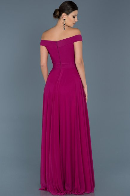 Long Fuchsia Evening Dress ABU008