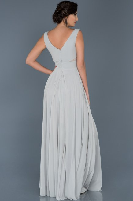 Long Grey Evening Dress ABU004