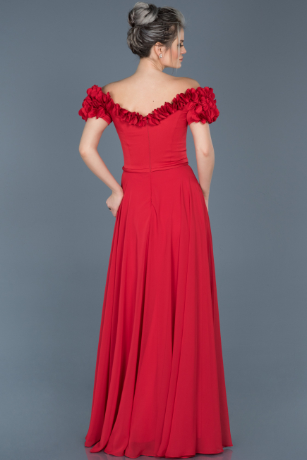 Long Red Evening Dress ABU074